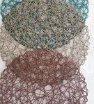 Sousplat de fibra natural